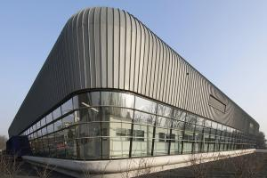 MHB Aluminium curtain wall, windows and doors with steel inside facades Cyclotron-TU Eindhoven 02